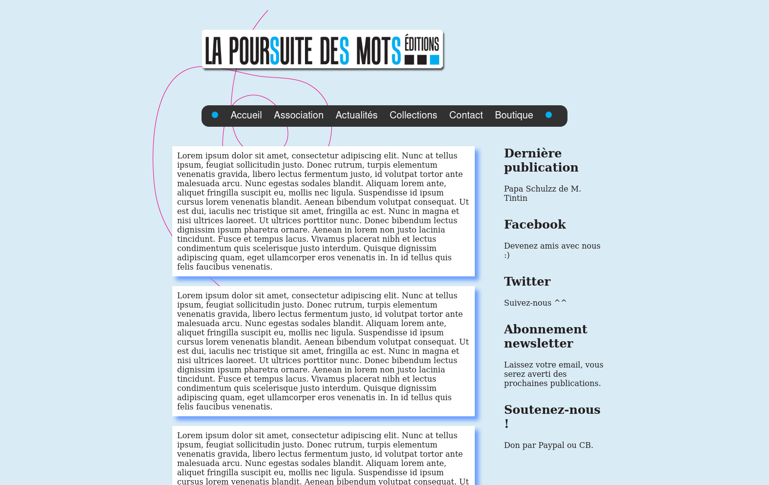 La poursuite des mots project illustration